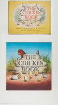 Books:Children's Books, Garth Williams. INITIALED/SIGNED. Dust Jacket for The ChickenBook, Howell, Soskin, 1946. Signed in pencil...