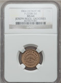 Civil War Merchants, 1864 Joseph Riggs, Detroit, MI, F-225BI-3d, R.9, MS64 NGC. ...
