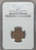Civil War Merchants, 1864 Alonzo Rolfe, Detroit, MI, F-225BK-3d, R.9, MS64 NGC. ...