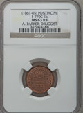 (1861-65) A. Parker, Pontiac, MI, F-770C-1a, R.8, MS63 Red and Brown NGC