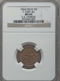 Civil War Merchants, 1864 E.S. Parker, Niles, MI, F-700C-4d, R.9, MS64 NGC. ...