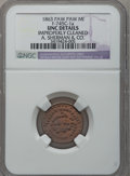 1863 A. Sherman & Co., Paw Paw, MI, F-745C-1a, R.6 -- Improperly Cleaned -- NGC Details. Unc