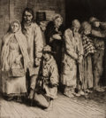 Prints, WILLIAM STRANG (British, 1859-1921). Group of five: The Cause for the Poor; Socialist; A Lodging for the Night; Summer, ... (Total: 5 Items)
