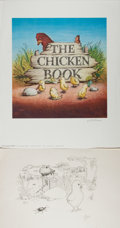 Books:Children's Books, Garth Williams. INITIALED/SIGNED. The Chicken Book PromoPoster. Signed by Garth Williams. Delacorte Press, Sept...