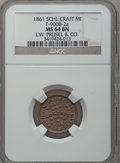 Civil War Merchants, 1861 I.W. Prusel & Co., Schoolcraft, MI, F-900B-2a, R.9, MS64Brown NGC. ...