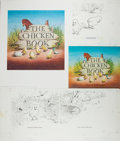 Books:Children's Books, Garth Williams. INITIALED/SIGNED. Dust Jacket Proof for TheChicken Book, initialed on front. Lacking info o...