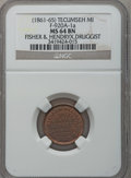 Civil War Merchants, (1861-65) Fisher & Hendryx, Tecumseh, MI, F-920A-1a, R.7, MS64Brown NGC. ...