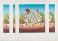 Books:Children's Books, Garth Williams. INITIALED. Four Copies of The Chicken BookPromo Poster, All Initialed by Garth Williams. Delaco...
