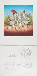 Books:Children's Books, Garth Williams. INITIALED/SIGNED. Dust Jacket for The ChickenBook. Howell, Soskin, 1946. Some rubbing and l...
