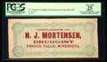 "Confederate Notes:1864 Issues, ""N.J. Mortensen Druggist"" Facsimile T64 $500 1864 - Advertising Note.. ..."
