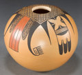 American Indian Art:Pottery, A HOPI POLYCHROME JAR. Gloria Mahle...