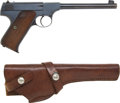 Handguns:Semiautomatic Pistol, Colt Pre-Woodsman Semi-Automatic Pistol and Holster....
