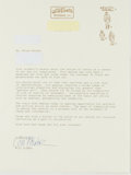 Books:Comics - Golden Age, Will Eisner (1917-2005, American Comic Book Writer and Artist).Typed Letter Signed. Tamarac, Florida, May 23, 1994. Address...