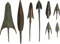 Edged Weapons:Other Edged Weapons, Lot of Eight Assorted Amlesh, Luristani Bronze Age Points.... (Total: 9 Items)