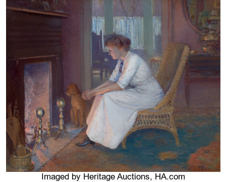 HENRY GRINNELL THOMSON (American, 1850-1937)Early TwilightOil on canvas 24 x 30 inches (61.0 x 76.2 cm)Signed lo...
