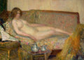Fine Art - Painting, American, HOVSEP PUSHMAN (American, 1877-1966). Repose, No. 801. Oil on canvas. 26 x 36 inches (66.0 x 91.4 cm). Signed lower righ...