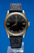 Timepieces:Wristwatch, Rolex Gold Top, Steel Back Ref. 6567 Oyster Perpetual, circa 1957. ...