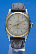 Timepieces:Wristwatch, Rolex Ref. 6098 Red Date Steel & Gold Vintage Oyster Perpetual, circa 1956. ...