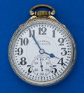 Timepieces:Pocket (post 1900), . Illinois 23 Jewel Bunn Special Sixty Hour 16 Size Pocket WatchFor Parts. ...