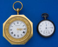 Timepieces:Other , Tiffany & Co. Travel Alarm Clock & Sterling Silver Pocket Watch. ... (Total: 2 Items)