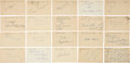 Autographs:Post Cards, 1940's-60's Baseball Players Signed Government Postcards Lot of 1,250+....