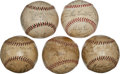 Autographs:Baseballs, 1928-37 Chicago Cubs Team Signed Baseballs Lot of 5....