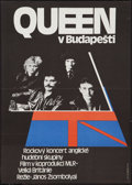 "Movie Posters:Rock and Roll, Queen Live in Budapest (MAFILM, 1987). Czech Poster (11"" X 16"").Rock and Roll.. ..."