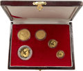 China:People's Republic of China, China: People's Republic of China. Five-piece gold and bi-metallic Proof Set 1993,... (Total: 5 coins)