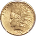 Indian Eagles, 1915-S $10 MS62 PCGS. CAC....