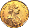 Russia, Russia: Peter I (The Great) gold Novodel 2 Ducats (DoubleChervonets) 1714,...