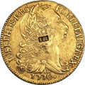 British West Indies, British West Indies: Jose I gold 6400 Reis 1770R Counterfeit withIH Counterstamp,...