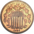 Patterns, 1882 5C Shield Five Cents, Judd-1694, Pollock-1896, R.7, PR64 Red PCGS. CAC....