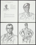 """Movie Posters:War, The Green Berets (Warner Brothers, 1968). Sketch Portfolio (8Pages, 11"""" X 14""""). War.. ... (Total: 8 Items)"""