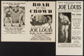 "Movie Posters:Sports, Roar of the Crowd & Others Lot (Norman, 1953). Heralds (4) (6"" X 12"" & 9"" X 12""). SS & DS. Sports.. ... (Total: 4 Items)"