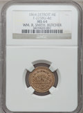 Civil War Merchants, 1864 William B. Smith, Detroit, MI, F-225BU-4d, R.9, MS64 NGC. ...
