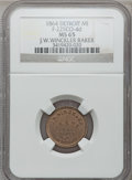 Civil War Merchants, 1864 J.W. Winckler, Detroit, MI, F-225CO-4d, R.9, MS65 NGC. ...
