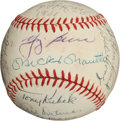 Autographs:Baseballs, 1960 New York Yankees Team Signed Baseball....
