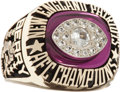 Football Collectibles:Others, 1985 Raymond Berry New England Patriots AFC Championship Salesman's Sample Ring....