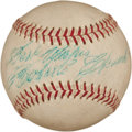 Autographs:Baseballs, 1960's Roberto Clemente Single Signed Baseball, PSA/DNA EX 5....