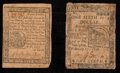 Colonial Notes:Continental Congress Issues, Continental Currency February 17, 1776 $1/6 VG. Pennsylvania April10, 1777 4d VF-XF.. ... (Total: 2 notes)
