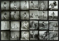 """Movie Posters:Bad Girl, Bettie Page Lot (1950s). Pin-Up Photos from Contact Sheets (24Images, 4 Pages of 6 Images Each) (5"""" X 7"""").. ... (Total: 24 Items)"""