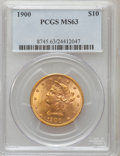 Liberty Eagles: , 1900 $10 MS63 PCGS. PCGS Population (827/201). NGC Census:(1505/482). Mintage: 293,960. Numismedia Wsl. Price for problem ...