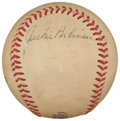 Autographs:Baseballs, 1950's Jackie Robinson Single Signed Baseball. ...
