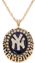 Baseball Collectibles:Others, 1998 New York Yankees World Championship Pendant....