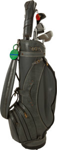 Football Collectibles:Others, 1965 Vince Lombardi Tournament Used Golf Clubs and Bag - From Event at Jack Nicklaus' Home Course!. ...