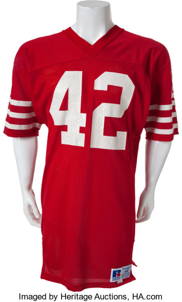 official photos b88f1 09423 Circa 1985-86 Ronnie Lott Game Worn, Signed San Francisco ...