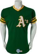 Baseball Collectibles:Uniforms, 1975 Billy Williams Game Worn Oakland Athletics Jersey....