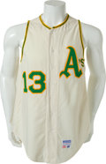 Baseball Collectibles:Uniforms, 1971 Blue Moon Odom Game Worn Oakland Athletics Jersey....