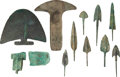 Edged Weapons:Other Edged Weapons, Lot of 11 Assorted Luristani Bronze Age Points and Blades.... (Total: 11 Items)
