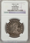 Early Half Dollars, 1806/5 50C -- Damaged -- NGC Details. VF. O-102. NGC Census:(12/936). PCGS Population (27/133). Numismedia Wsl. Price fo...